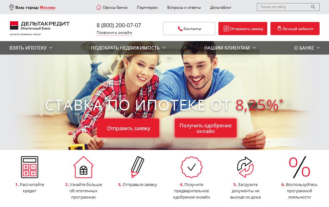 официальный сайт ДельтаКредит